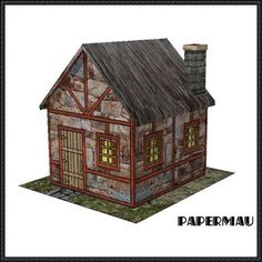 Old Stone Hut Free Building Paper Model Download - http://www.papercraftsquare.com/old-stone-hut-free-building-paper-model-download.html