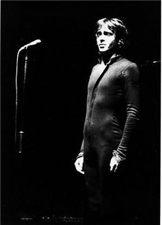 justpetergabriel:  The pic said it's from Dortmund, 1975. I suppose he's performing a non-Lamb song here.