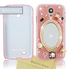 Amazon.com: Mavis's Diary Handmade Luxury 3D Mirror & Fashion Accessories Diamond Crystal Bling Pink Case Cover for Samsung Galaxy S IV S4 GS4 4 with Soft Clean Cloth: Cell Phones & Accessories