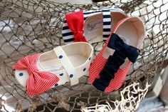 Nautical Soft Soled Baby/Toddler Shoes by Bitsy Blossom