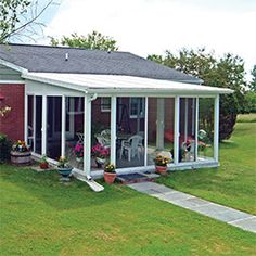EasyRoom™ Sunroom Kits from Patio Enclosures are simply the easiest way to add affordable living space and value to your home. DIY Sunrooms come in various sizes and styles. Enclosed Patio, Screened In Patio, Back Patio, Pergola Patio, Backyard Patio, Cheap Pergola, Pergola Kits, Pergola Ideas, Patio Awnings
