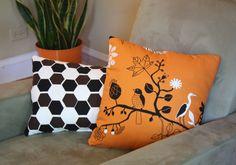 Love this elegant orange decorative pillow!