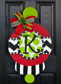 Christmas Door Hanger, Peppermint, Christmas Decor, Candy ...