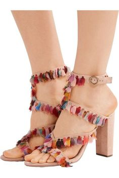 Chloé - Tasseled Suede Sandals - SALE20 at Checkout for an extra 20% off