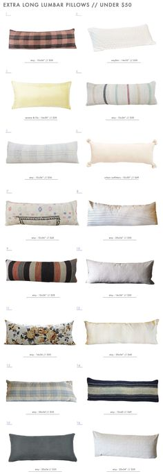 Our Extra Long Lumbar Pillow Roundup - Under $50