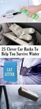 25 CLEVER CAR HACKS TO HELP YOU SURVIVE WINTER - Winter Driving Tips