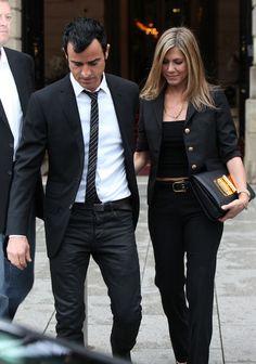Jennifer Aniston - Jennifer Aniston And Justin Theroux Dine At Famous Eiffel Tower Restaurant