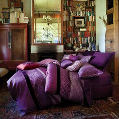 Pretty Bed.  Lots Of Ideas For Purple Bedrooms On This Link.