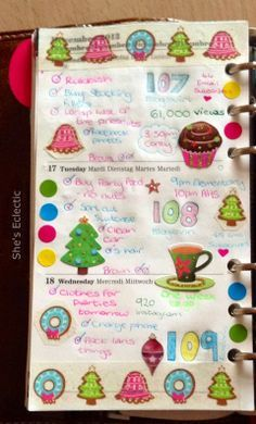 She's Eclectic: My week in my Filofax #51 - close up