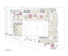 Daniel Valle Architects Competition design for a new Elementary School in Siheung city, South Korea University Architecture, Education Architecture, School Architecture, Architecture Plan, Classroom Floor Plan, School Floor Plan, School Plan, The Plan, How To Plan