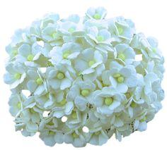 Kwiatki Sweetheart Białe 15mm, 10szt. SAA-198