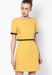 1d7879f6fc Buy Miss Selfridge Yellow Colored Solid Shift Dress Online - 4250513 -  Jabong