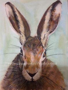 'Noble fury and fair spirit' Watercolour hare.