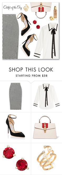 Outfit of the Day by dressedbyrose on Polyvore featuring Marc Jacobs, Altuzarra, Jimmy Choo, Gucci, Hueb, Kate Spade and Petit Bateau