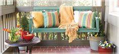 I have a love affair with porch swings and here's one I can make myself.