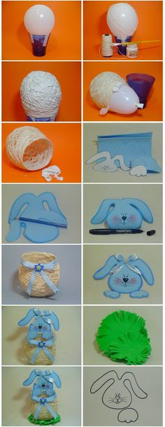 DIY Easter Basket Out Of Yarn String other  diy easter basket