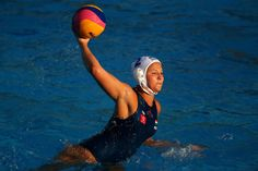 Rio 2016 Olympic: Women's Water Polo, Anna Illes making a throw.