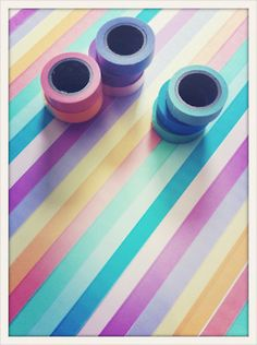 covering a parson's table with coloured tape