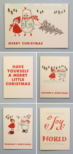 Imogen Owen Letterpress Holiday Cards