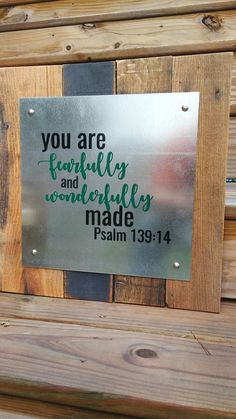 Inspiration Wall Art - Metal and Pallet Wood