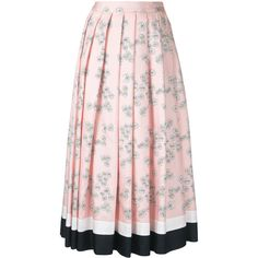 Macgraw Daisy Chain skirt ($670) ❤ liked on Polyvore featuring skirts, pink skirt, pink silk skirt and silk skirt