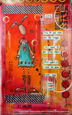 Sentiment stamp by Paper Artsy Staples stamp by Tim Holtz  As you can see I added a bit more to the journal page using my quick funny-bunny-...