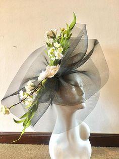Black Fascinator Black Fascinator Hat Big Brim Fascinator