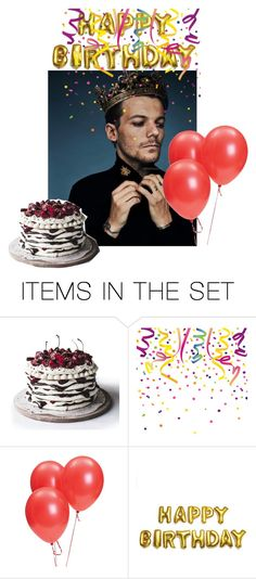 """""""Happy 26th birthday Louis Tomlinson 🎂❤️"""" by tiffany-london-1 ❤ liked on Polyvore featuring art"""