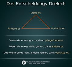 Das Entscheidungs-Dreieck The Effective Pictures We Offer You About clinical Psychology A quality picture can tell you many things. You can find the most beautiful pictures that can be presented to yo Love Your Enemies, School Motivation, Psychology Quotes, Fitness Journal, Positive Life, Better Life, Feel Better, Success Quotes, Good To Know