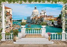 Динго: dingo.com.ua   тел. (044) 360-40-52: Фотообои 3d, канал, терраса, венеция
