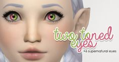 Two Toned EyesI have come out with two two-toned eyes sets before, but these have been updated and now come as contacts so you can see both colors of the eyes easier. I also added 6 Sims 2 inspired supernatural eyes as well. Sims 4 Cc Eyes, Sims 4 Mm Cc, Sims 4 Game Mods, Sims Mods, Glossy Eyes, Maxis, Sims 4 Cc Makeup, Play Sims, Sims 4 Cas