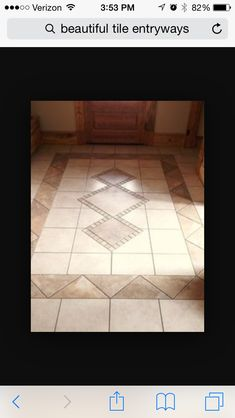Amazing Tile Ideas For Your Home Design 08 Foyer Design, Tile Design, House Design, Pattern Design, Pattern Ideas, Entryway Flooring, Kitchen Flooring, Tile Entryway, Tile Flooring