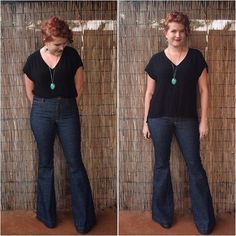 Be brave and make the perfect pair of high waisted flare jeans you've ever seen! Pattern Reviews> Closet Case Files> Ginger Jeans (Ginger Jeans)