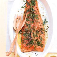 Rezept: Lachs aus dem Ofen mit Dill und Estragon - [LIVING AT HOME]
