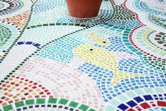 Mosaiktisch, Mosaictable, table, Terassentisch, Mosaik, Mosaic