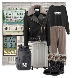 """""""My Airport Style to go Skiiing"""" by summer-marin ❤ liked on Polyvore featuring Cole & Son, Christian Lacroix, Rick Owens, The North Face, Thomas Sabo and Reiss"""