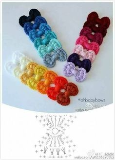 Free Crochet Patterns for Bows ⋆ Crochet KingdomA Collection of different ways to crochet bows: bobble stitch bow, crocodile stitch bow, easy bow handband andThis Pin was discovered by IndSurprising Benefits of Crochet & Knitting as We Get Old - Sp Crochet Diy, Crochet Bow Pattern, Crochet Simple, Crochet Flower Patterns, Crochet Diagram, Love Crochet, Crochet Motif, Crochet Crafts, Crochet Flowers