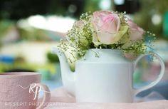 Kitchen Tea / Bridal shower :  Teapot flower arrangement