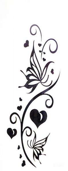 Waterproof love butterfly totem temporary realistic temporary tattoo sticker
