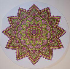 Mandala Mandala Coloring, Colouring, Sacred Geometry Art, Tapestry, Create, Cards, Decor, Bold Colors, Mandalas