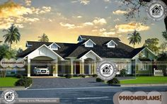Kerala Traditional Style One Floor Simple Four Bedroom House Plans with Exterior Images Simple House Design, House Design Photos, Interior Design Photos, Interior Ideas, Front Elevation Designs, House Elevation, Four Bedroom House Plans, House Floor Plans, 1500 Sq Ft House