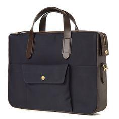 Mismo Briefcase (Dark Blue & Dark Brown)