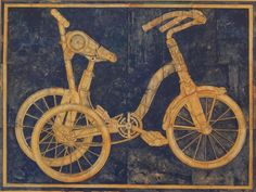 "327. ""Tricycle,"" acrylic on canvas, 30"" x 40"" Richard Britell"