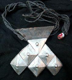 Africa | Tuareg amulet necklace.