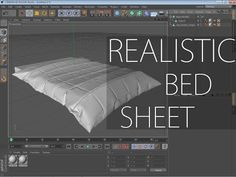 ▶ Marvelous Designer 3 Tutorial - How to make a realistic bed sheet - YouTube