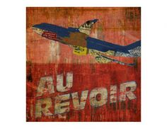 Au Revoir 24-5-2013 Stupid Quotes, Poster, Palette, Artwork, Painting, 2013, Airplane, Mixed Media, Shopping