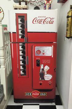 Coke Vented machine refrigerator wrap sticker Man cave, Game room