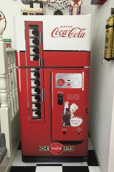 Coke Vented machine refrigerator wrap sticker Man cave, Game room
