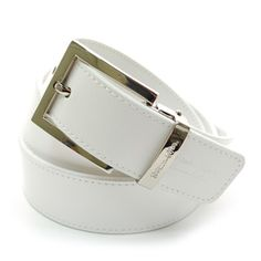 (JPB024-WHITE) Casual Leather Belt from W28 to W35