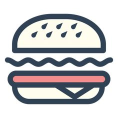 Burger fast food stroke icon PNG image Download as SVG vector EPS or PSD Get Burger fast food stroke icon transparent P Food icon png Burger icon Food icons